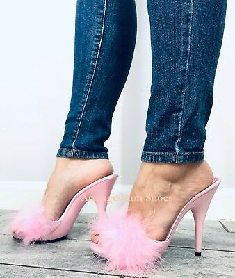 Pink Feather Shoes (5