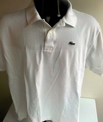 LaCoste Crocodile Logo S/S Polo Shirt Size: 8 ...2XL White
