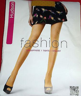 Hudson 001170 - Strumpfhose Fashion Tights - Summer Net - Gr: 40-42 - Golden Sun
