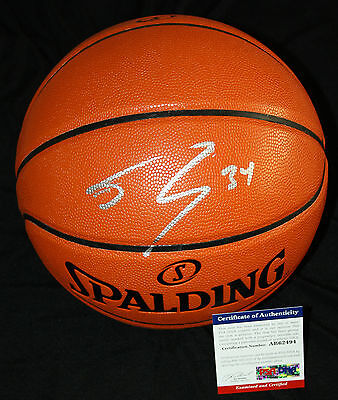 Shaquille ONeal signed basketball, Lakers,Miam Heat, LSU Tigers, PSA/DNA - Miam Heat