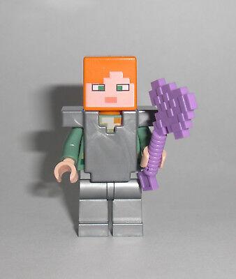 LEGO Minecraft - Alex mit Eisenrüstung - Figur Minifig Iron Armor Nether 21139 ()