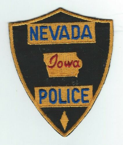 VINTAGE NEVADA, IOWA POLICE (CHEESE CLOTH BACK) patch