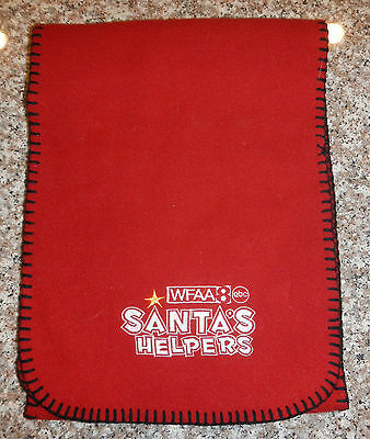Wfaa Dallas Channel 8 Tv News Station Logo Santas Helpers Toy Drive Winter Scarf