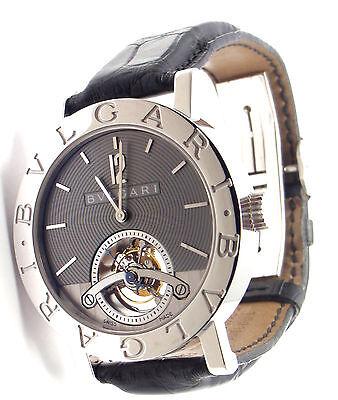 Auth! Bulgari Bvlgari Limited Edition Tourbillon 18k White Gold Watch BBW38GLTB