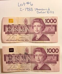 Lots of 2-1988 one thousand Dollars Bill