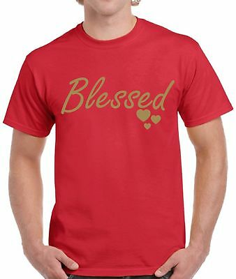 Blessed Christmas Tshirts for Men Thanksgiving Christian Gift Men's Holiday Tee ()