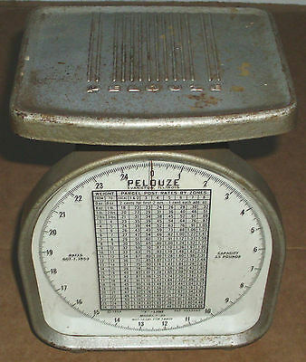 1954 Rare Pelouze Y-25 Postal Scale Very Cool Collectible That You Can Use Look