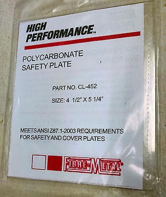 Honeywell Fibre-metal Cl-452 Welding Safety Plate Front Lens Tigerhood Adf