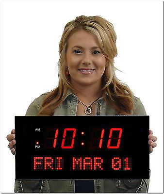 Big 2.25 Red Digital LED Calendar Clock (# EC257AR)