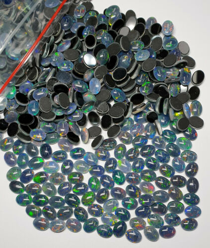 100 Australian 8x6 mm Oval Cut Opal Triplets Made in Australia from Natural Opal