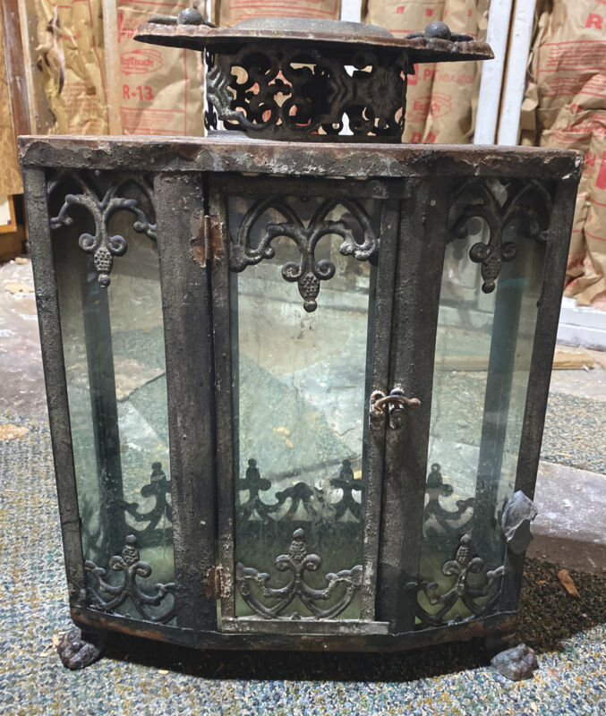 Antique Vitrine 19th Century French Display Case Table Top Gilt Brass.
