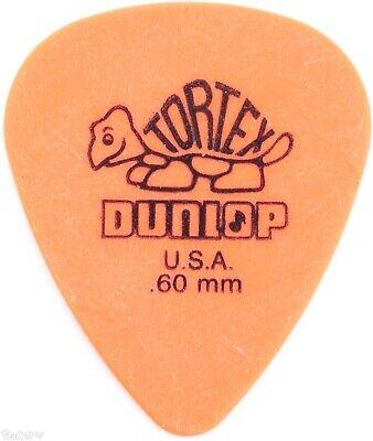 Dunlop Tortex Standard Picks (Dunlop 418P.60 Tortex Standard .60mm Orange Guitar Picks)