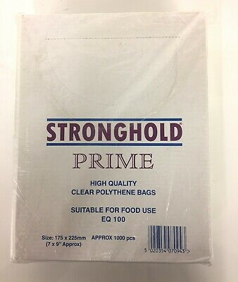 2  X STRONGHOLD Clear Polythene Bags Size 7