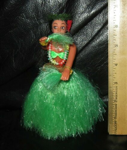 "Vintage Hawaiian 6.5"" Hula Girl Doll Figure souvenir Aiea Hawaii Dancer statue"