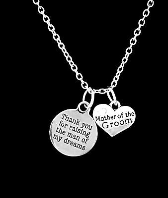 Mother Of The Groom Necklace Thank You For Raising The Man Wedding Gift Jewelry](Mother Of Groom Gift)