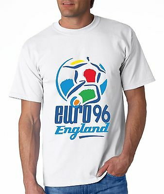 Riesige Retro England Euro 96 Fußball T-Shirt Herren Damen Coming Home Top