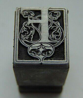 Printing Letterpress Printers Block Letter Capital F Floral Design All Metal
