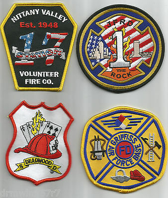 4 - new fire patches - set # 135 fire patch