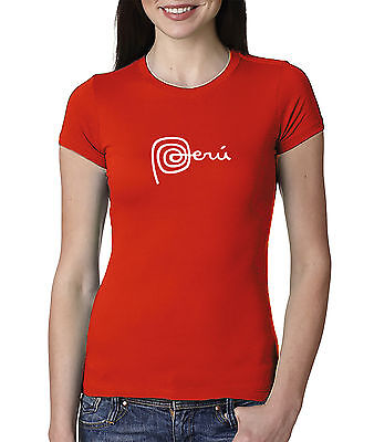 Marca Peru New National Logo  Women Crew Neck Tshirt