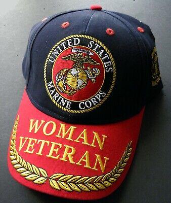 Navy Emblem Woman Veteran Woman Warrior Feather Navy Blue Cap Hat U.S