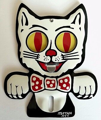 REPRODUCTION License Plate Topper Attachment Felix Cat Eyes
