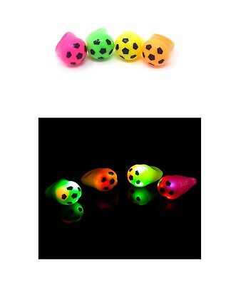 2 to 96 Football Flashing LED Jelly Rings Light Up Finger Glow Party Wholesale - Glow Rings Wholesale