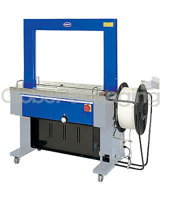 HEAVY DUTY TRS 600 FULLY AUTOMATIC PALLET STRAPPING MACHINE NEW - OPTIMAX TRS600