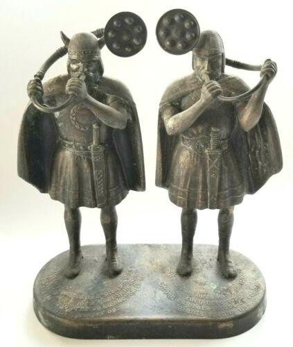 Edward Aagaard Vintage Bronze Vikings Lur Horn Sculpture Metal Denmark RARE