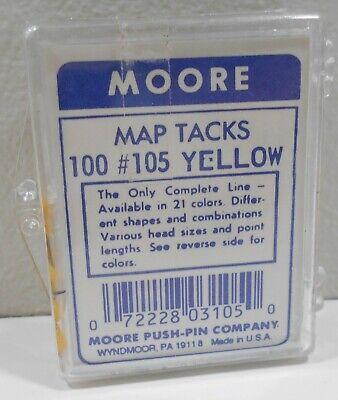 Nib Moore Push Pin Company Map Tacks 100 Count 105 Yellow