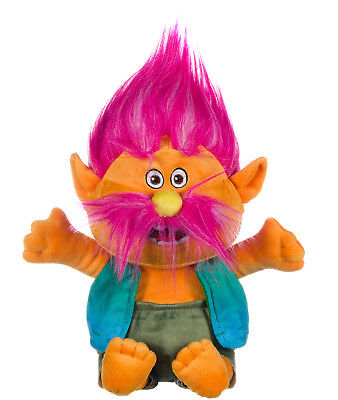 """NEW OFFICIAL 13"""" DREAMWORKS TROLLS PLUSH SOFT TOY KING PEPPY"""