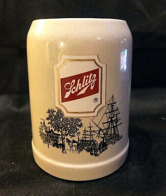 Vintage Schlitz Ceramic Gray Beer Stein Mug Made In West Germany O.5l Gerz