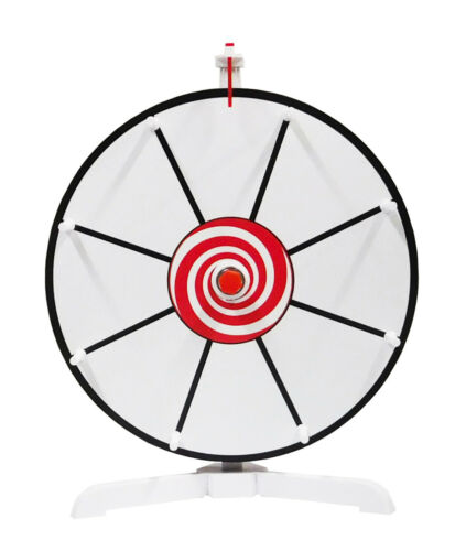 """Spinning Prize Wheel  12"""" White Face Dry Erase Spin Wheel with Peg  Design"""