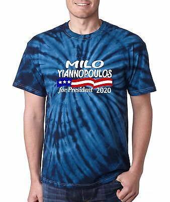 Tie Dye Milo Yiannopoulos President 2020 T Shirt  Shirt