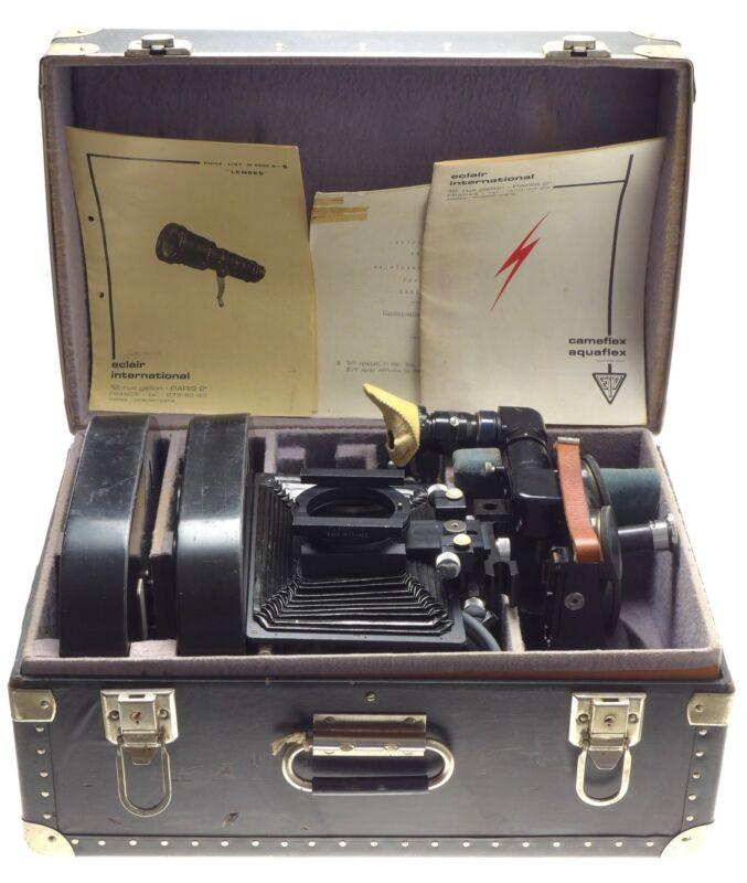 Cameflex Eclair 16/35mm movie camera complete kit motor hood gates finder mags