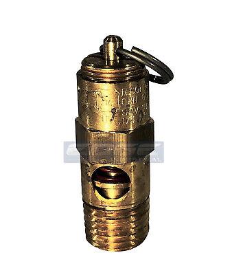75 Psi Brass Safety Pressure Relief Pop Off Valve Air Tank Compressor 14