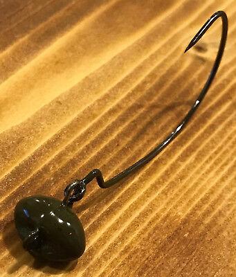 1//8 oz /& 3//16 oz Black Weedless WACKY Jig Head Wackey 24 Gamakatsu GS 12 12