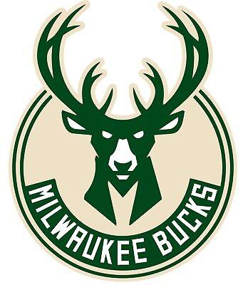 Milwaukee Bucks NBA Color Die Cut Vinyl Decal Sticker - NEW Choose Size 2