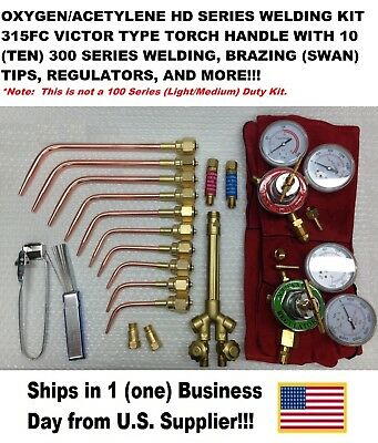 Victor Type Heavy Duty 315fc Type Oxyacetylene Welding Torch Kit Wregulators