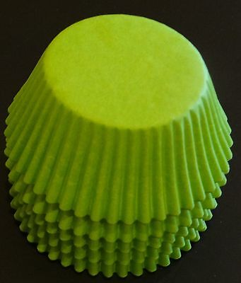 50 Lime Green Cupcake Liners Baking Cups STANDARD SIZE BC-35-50 NEW ()