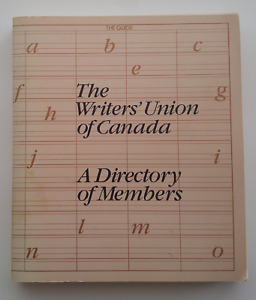 SIGNED: Writers' Union of Canada, Directory of Members, 1981