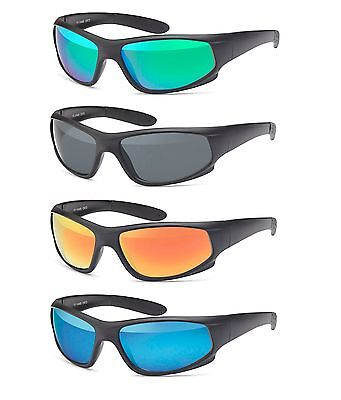 Sportliche Herren Sonnenbrille Radbrille Bikerbrille Verspiegelt o. Polarisiert