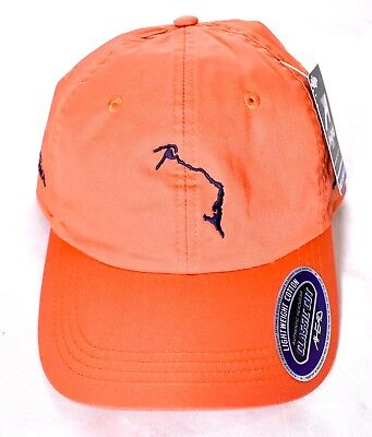 AHEAD ELEUTHERA BAHAMAS Lightweight Classic Cut Hat/Cap Orange Adjustable >NEW<