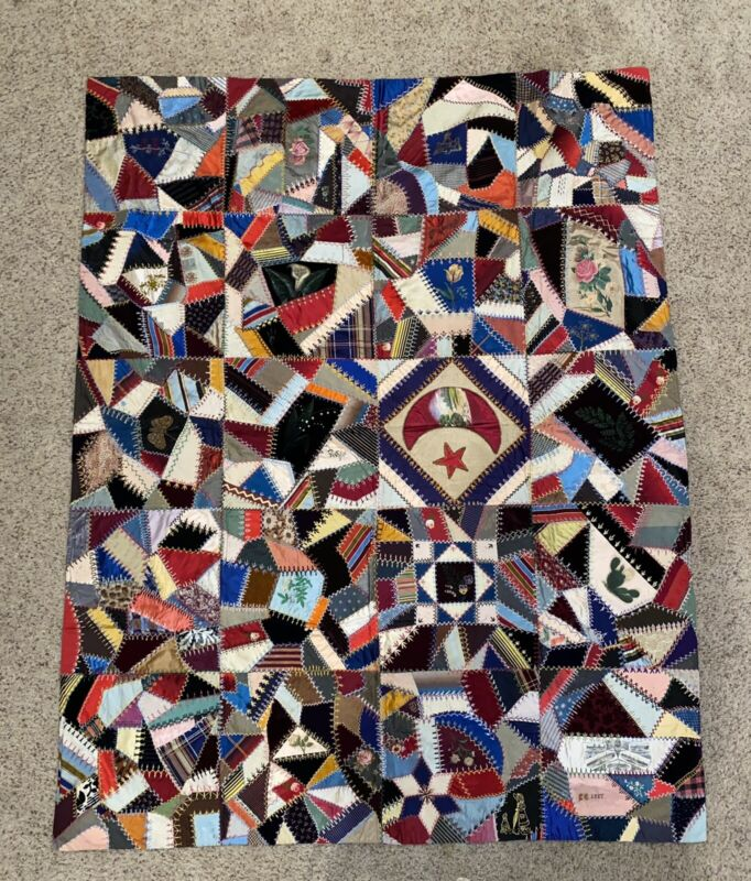 """Quilt Hand Made And Crafted. 52"""" X 68"""" Throw / Wall Art - Such Detail!"""