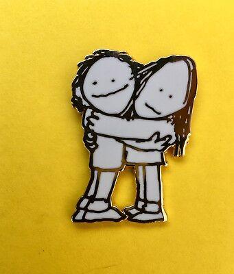 Shel Silverstein's Hug of War Pin w/ poem printed on back...dead panic phish co