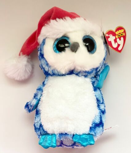 """TY ICICLES BLUE OWL 6"""" BEANIE BOOS-NEW W/TAG, RETIRED-SUPER SOFT & BEAUTIFUL"""