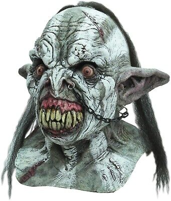 Orc Halloween Masks (Halloween Costume NASTY BATTLE ORC Horror High-Quality Latex Deluxe Mask)