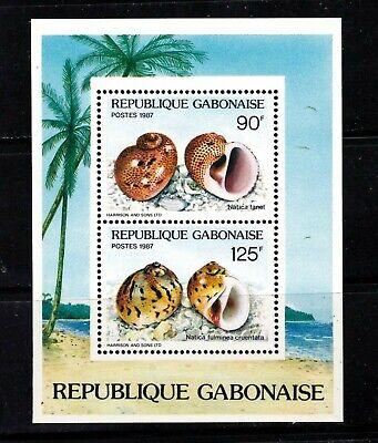 Gabon Souvenir sheet #622a, topical, seashells, MNHOG, XF