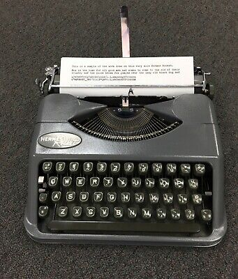 Hermes Rocket REFURBISHED MINT- unusual grey Swiss-made portable typewriter