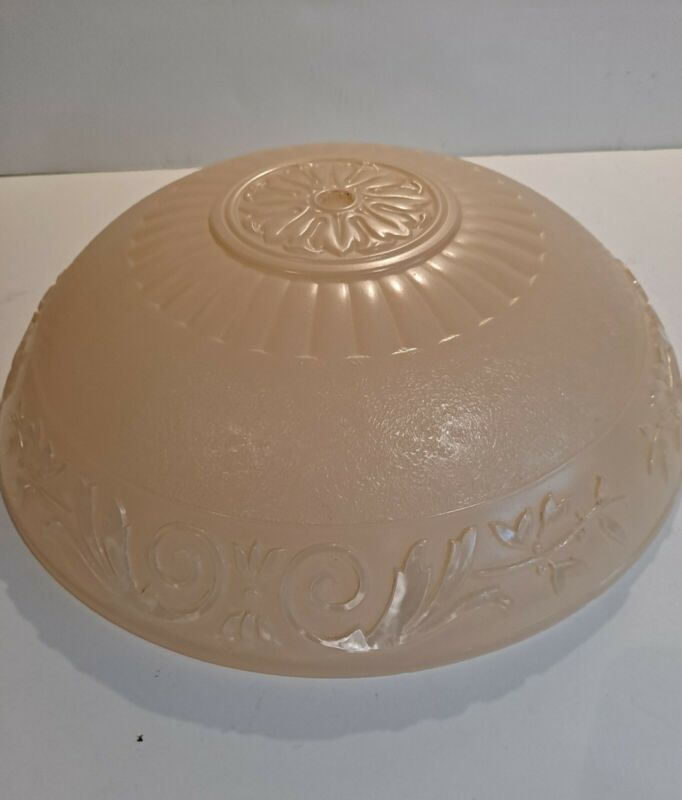 VINTAGE IMPERIAL GLASS CO. VERY PALE PINK CEILING SHADE