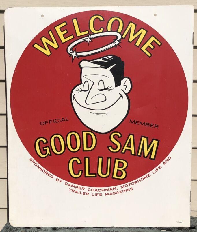 Vintage Good Sam Club Large Metal Welcome Sign Official Member RV